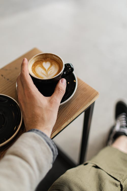 Close-Up Photo of a Latte in a Cup