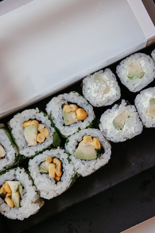 Close-Up Photo of Delicious Sushi Rolls
