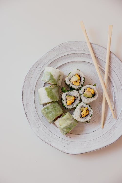 A Delicious Sushi Rolls on a PLate