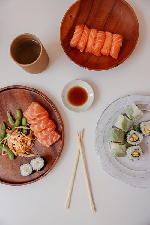 A Delicious Japanese Food on White Table