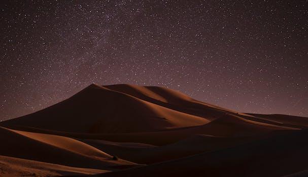 Desierto durante la noche