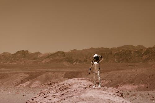 Základová fotografie zdarma na téma astronaut, cosplay, hora