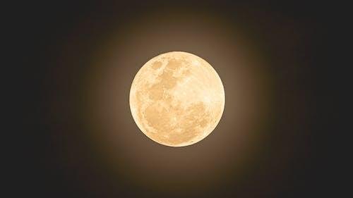 Close-Up Shot of a Bright Moon