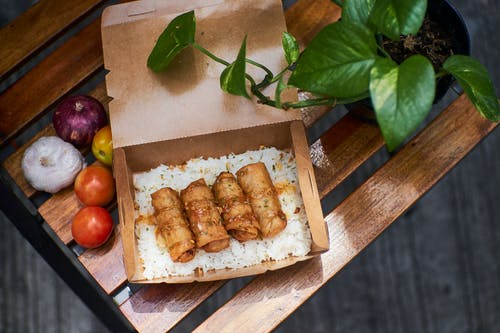 Fried Food in a Take Out Box