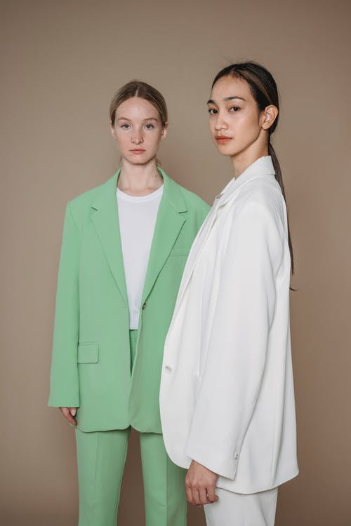 Models in Loose Stylish Suits