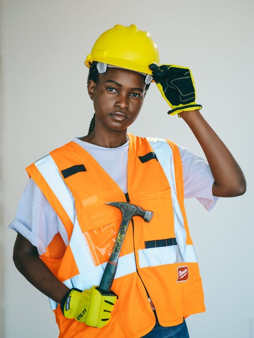 Handywoman in Complete PPE