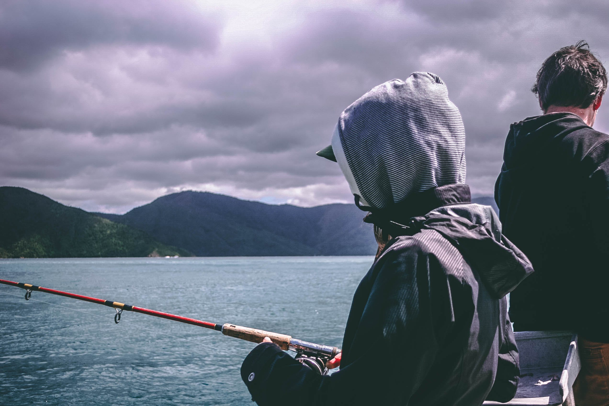 Free stock photo of fishing, sea, landscape, mountains