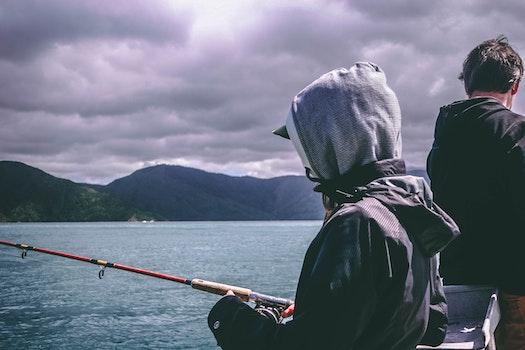 Free stock photo of fishing, sea, landscape, mountains