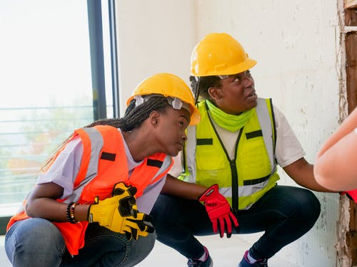 Female Engineers in Reflective Vest