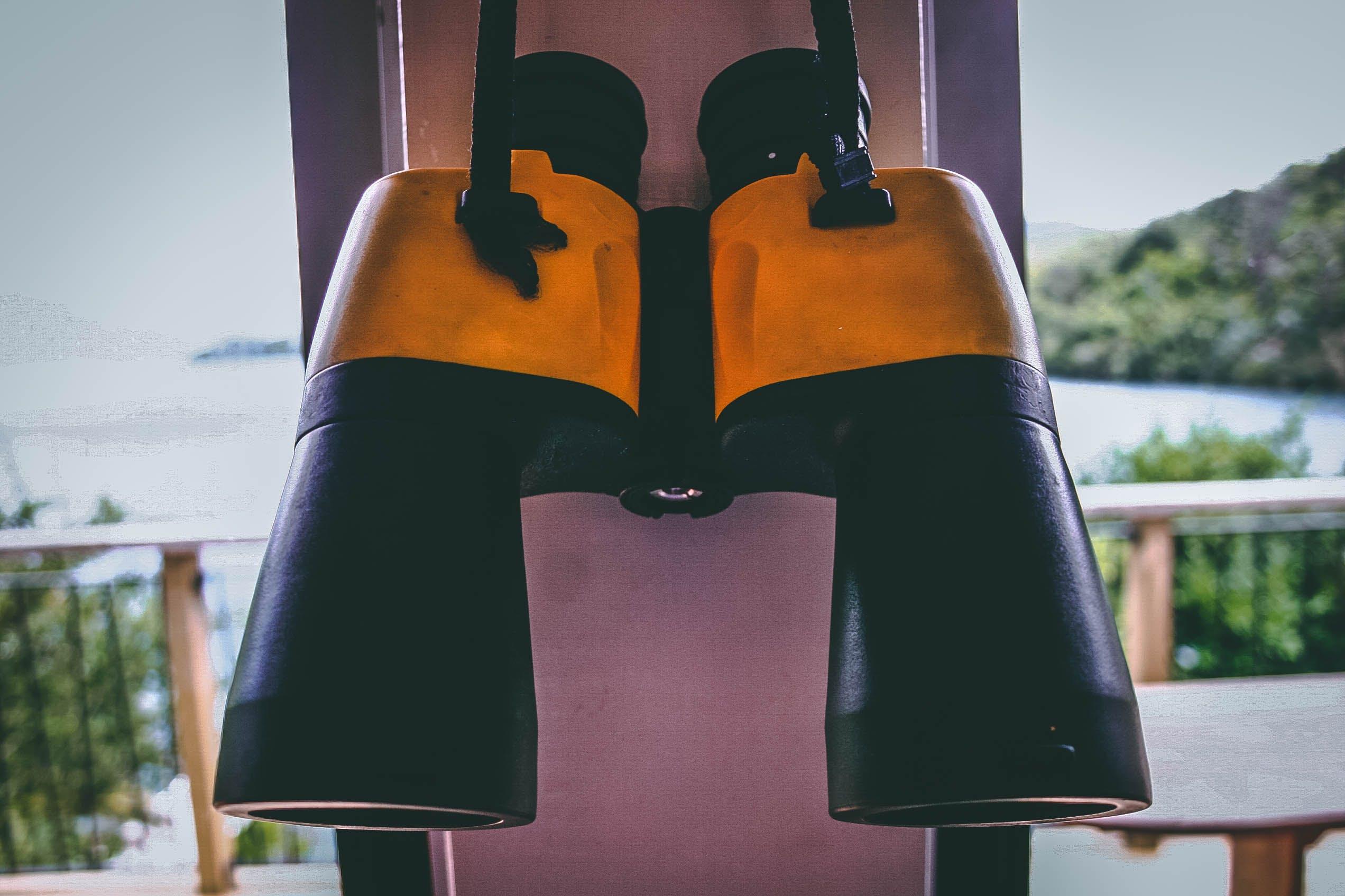 Photo of Black and Yellow Binoculars