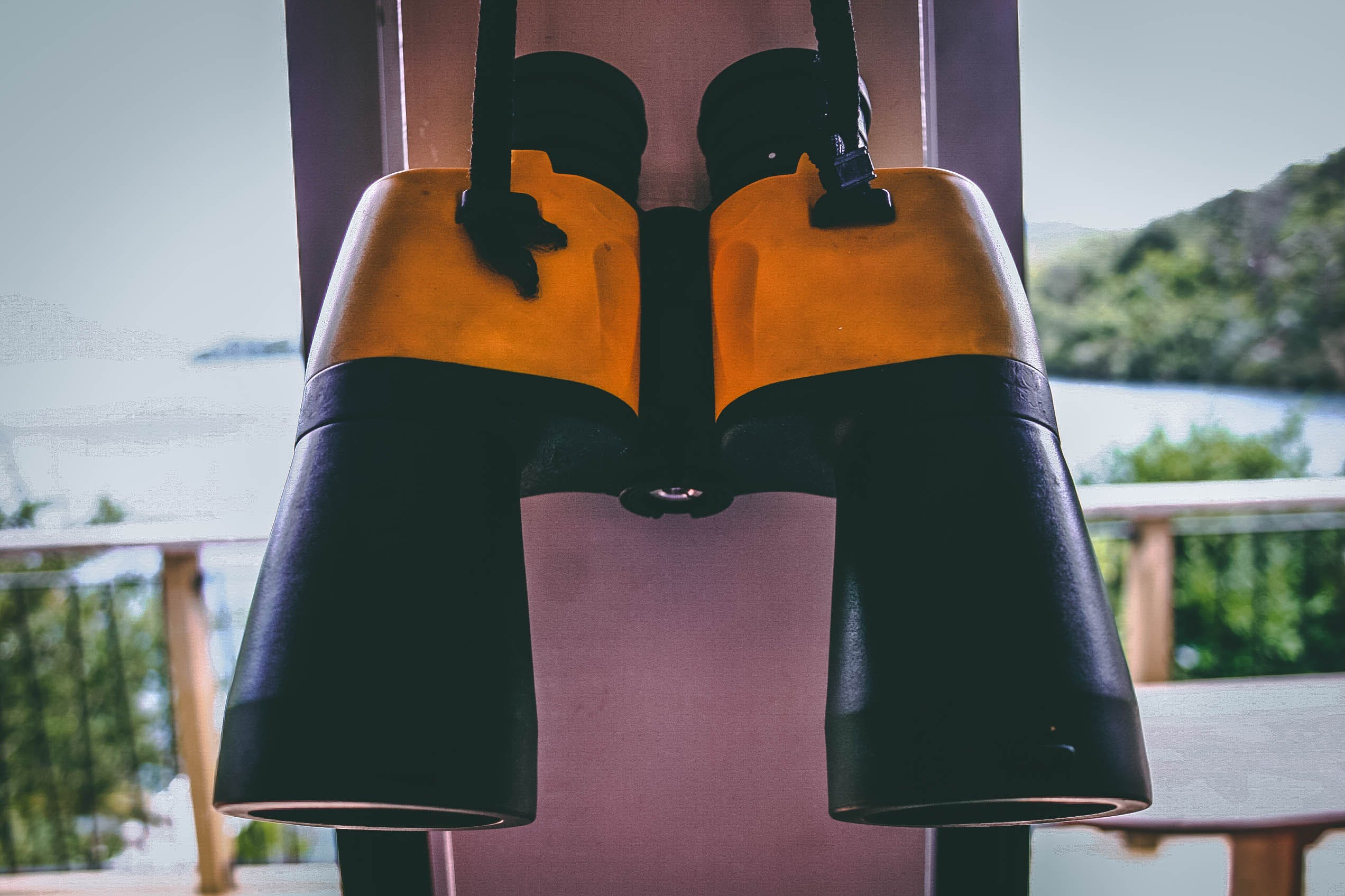 Photo of Black and Yellow Binoculars