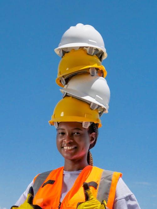 Бесплатное стоковое фото с афро-американец, защитное снаряжение, инженер