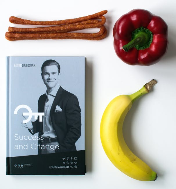 New free stock photo of vegetables, banana, book