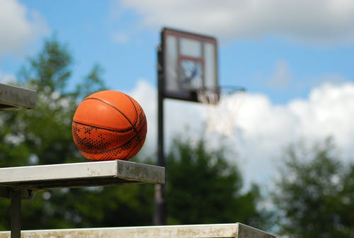 Basketball Laid on a Bench