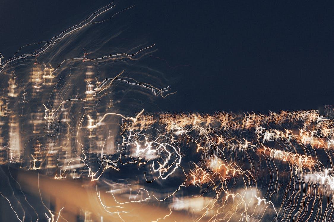 Foto profissional grátis de ainda movimento, cidade, luz neon