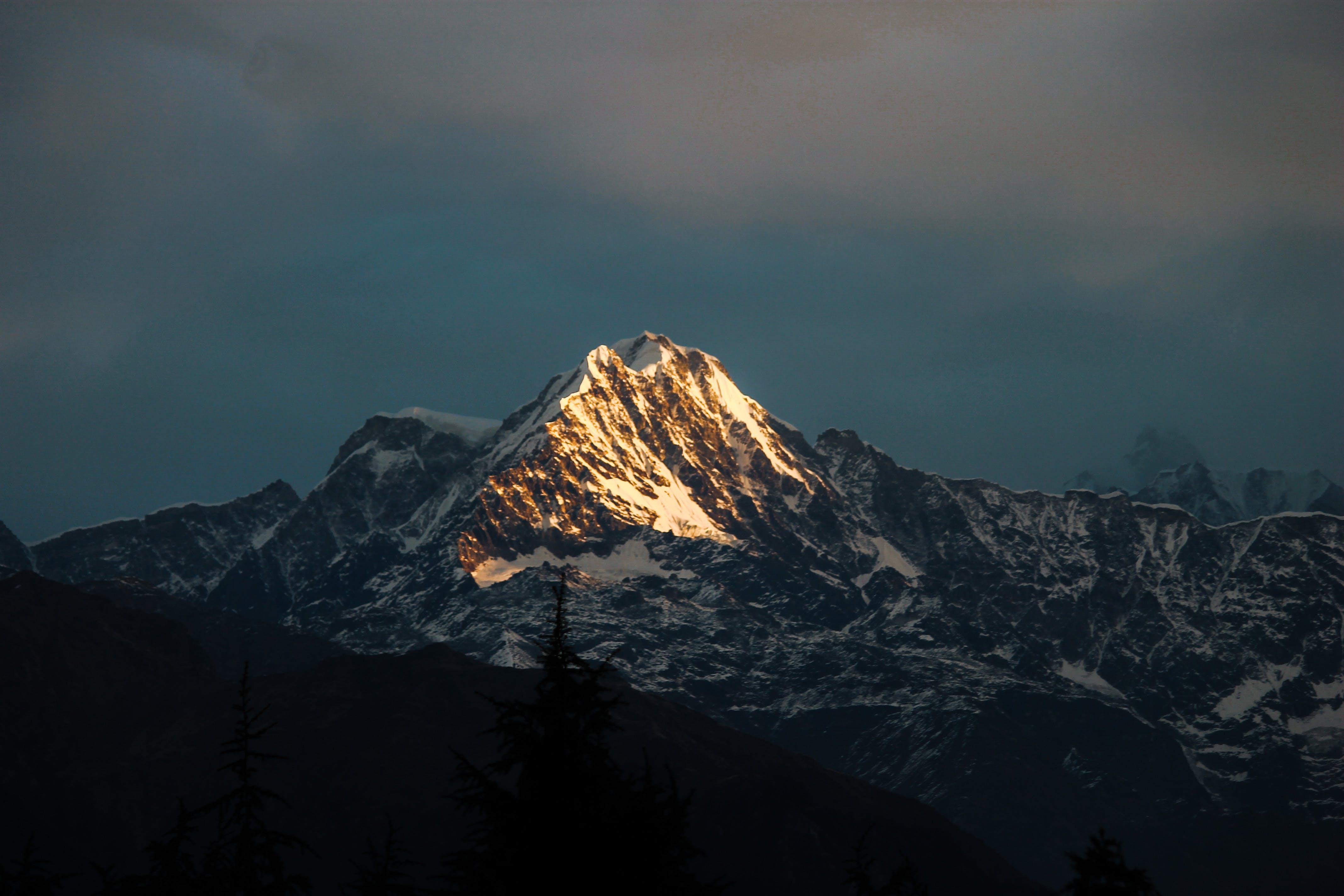 Free stock photo of snow, trees, winter, mountain