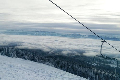 Kostnadsfri bild av bergen, blå, moln, skidlift