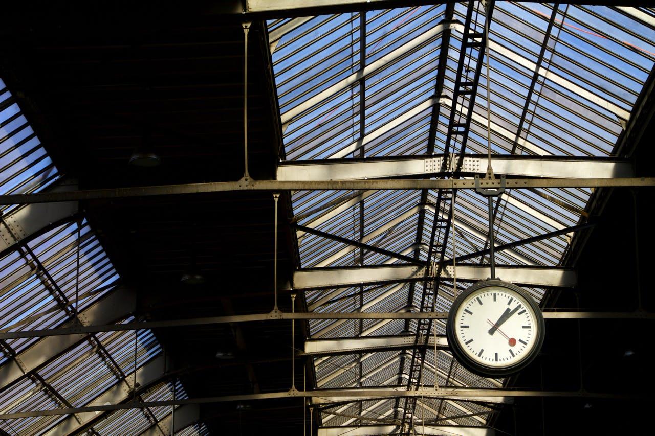 Free stock photo of sun, spring, clock, switzerland