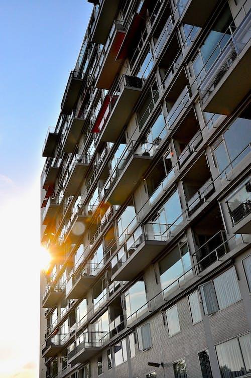 Ingyenes stockfotó apartmanok, épület, naplemente témában
