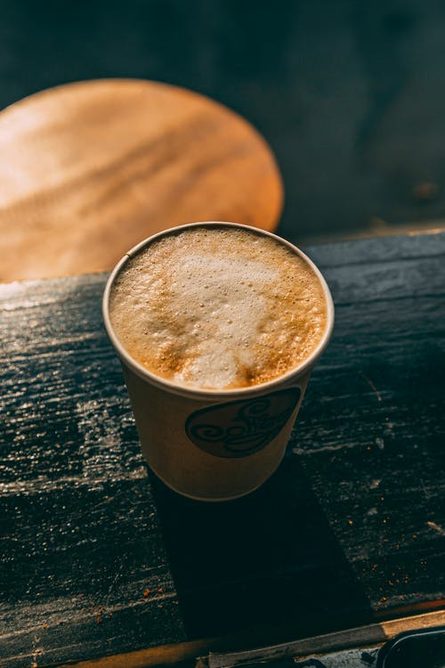 brązowy, cappuccino, ciemny