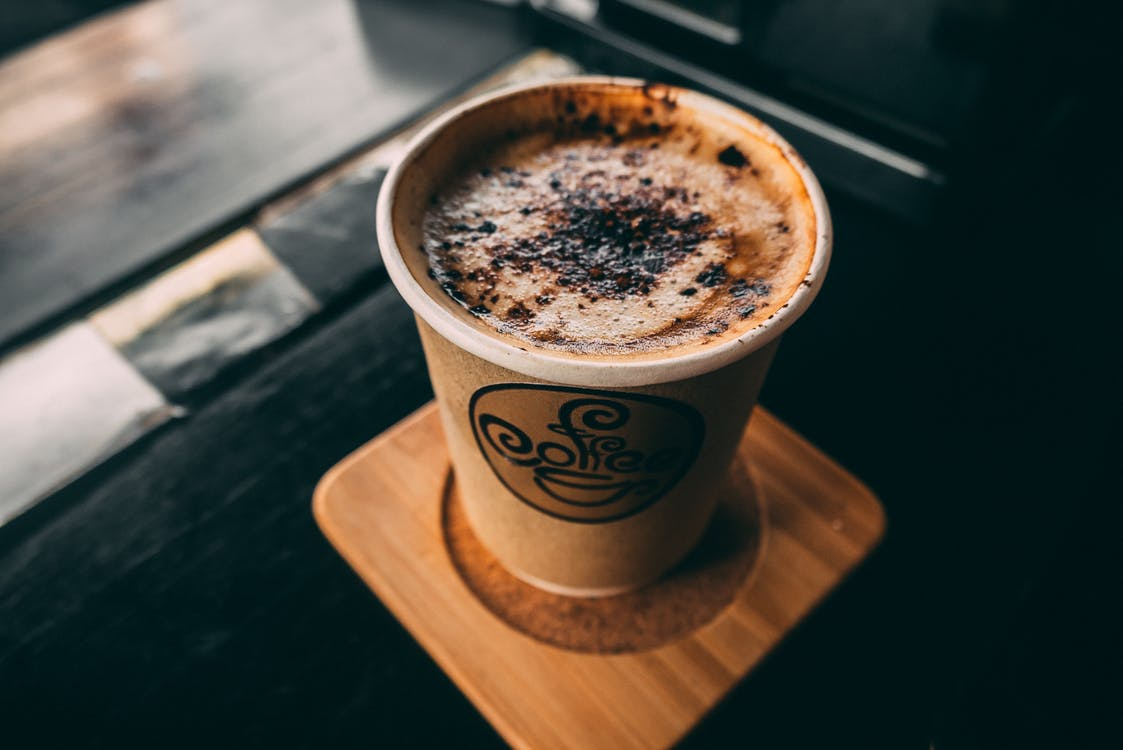 Coffee in Brown Paper Cup