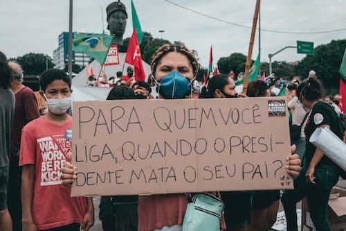 Δωρεάν στοκ φωτογραφιών με αφίσα, βραζιλία, διαδήλωση