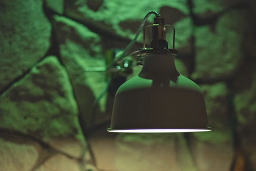 Free stock photo of light, rocks, wall, lamp