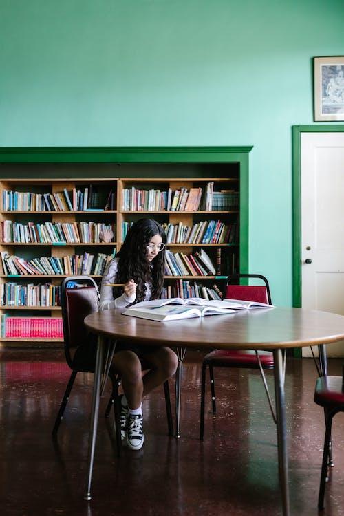A girl reading