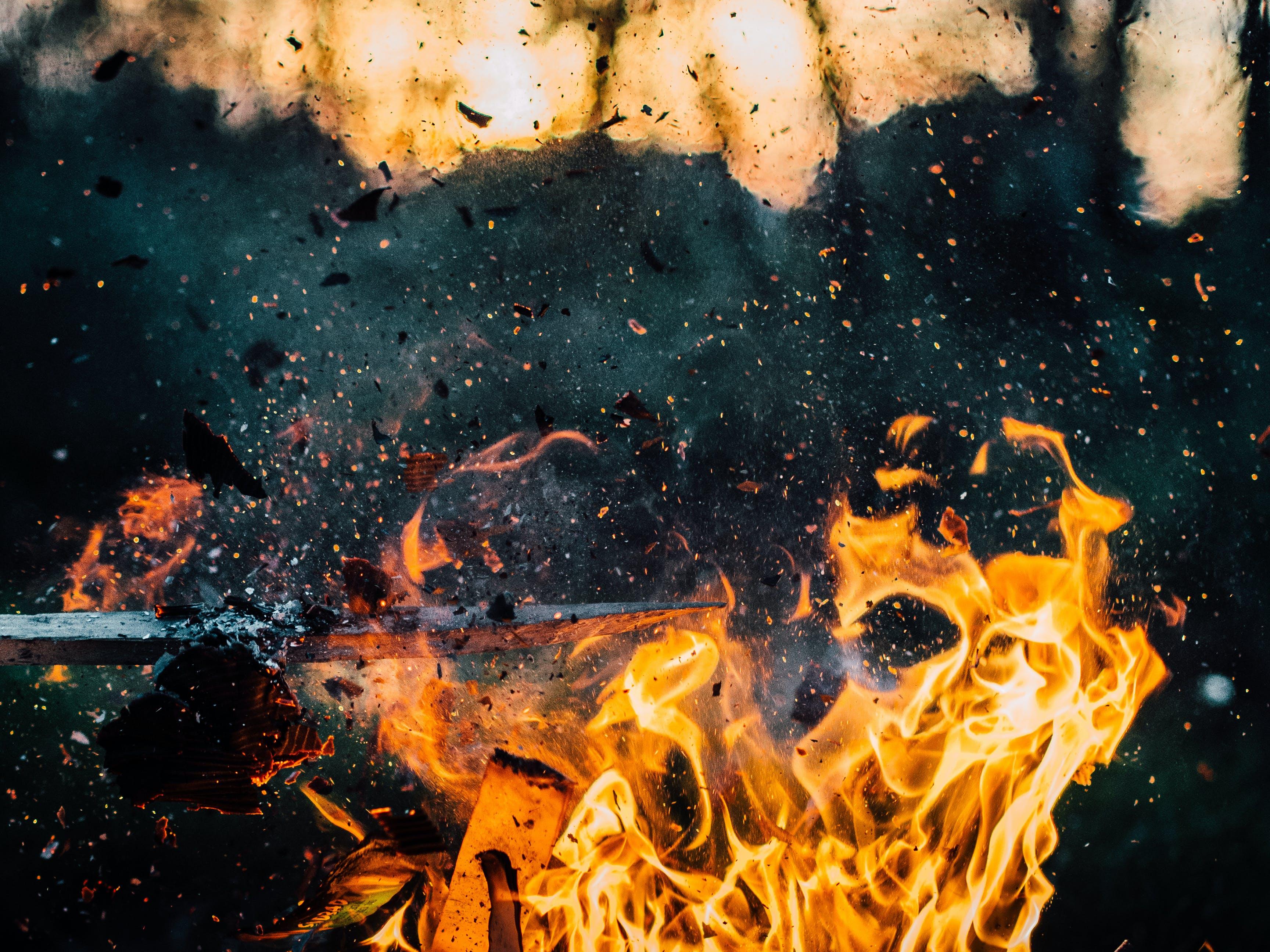 Kostenloses Stock Foto zu explosion, feuer, flamme, heiß