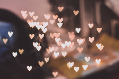 Photo of Pink Hearts Overlay