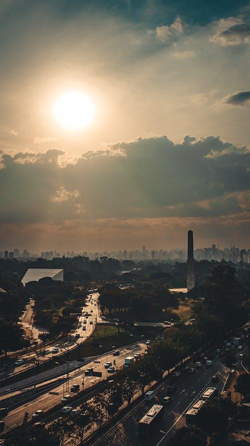 Evening Sun over the City