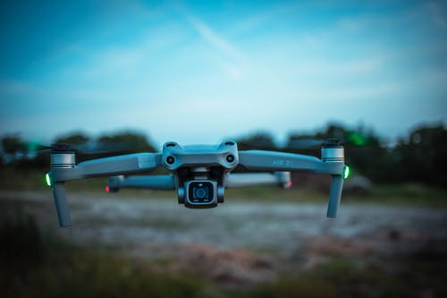 Shallow Focus Photo of a Flying Drone
