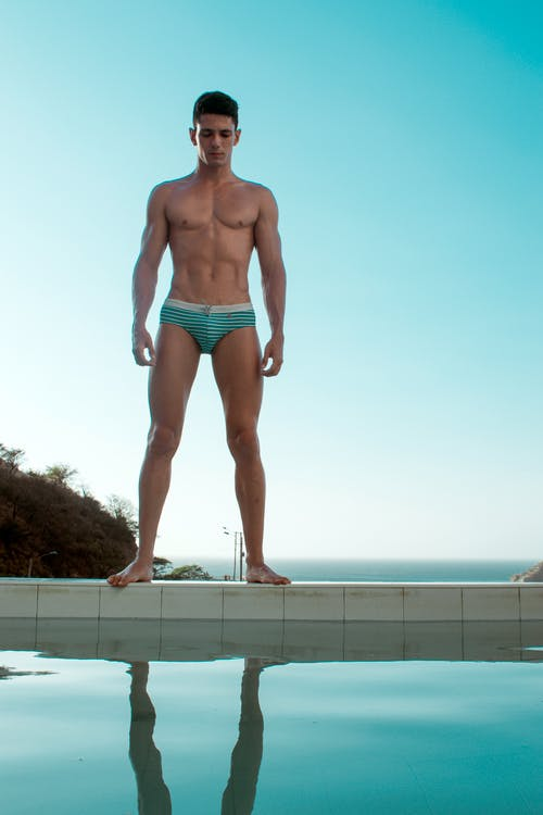 Free stock photo of blue, blue water, hunk, male