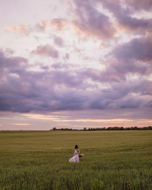 Základová fotografie zdarma na téma asiatka, bílé šaty, hřiště
