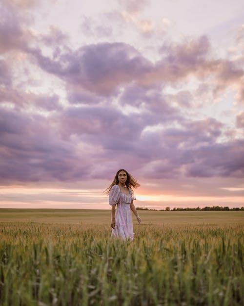Základová fotografie zdarma na téma asiatka, bílé šaty, elegantní
