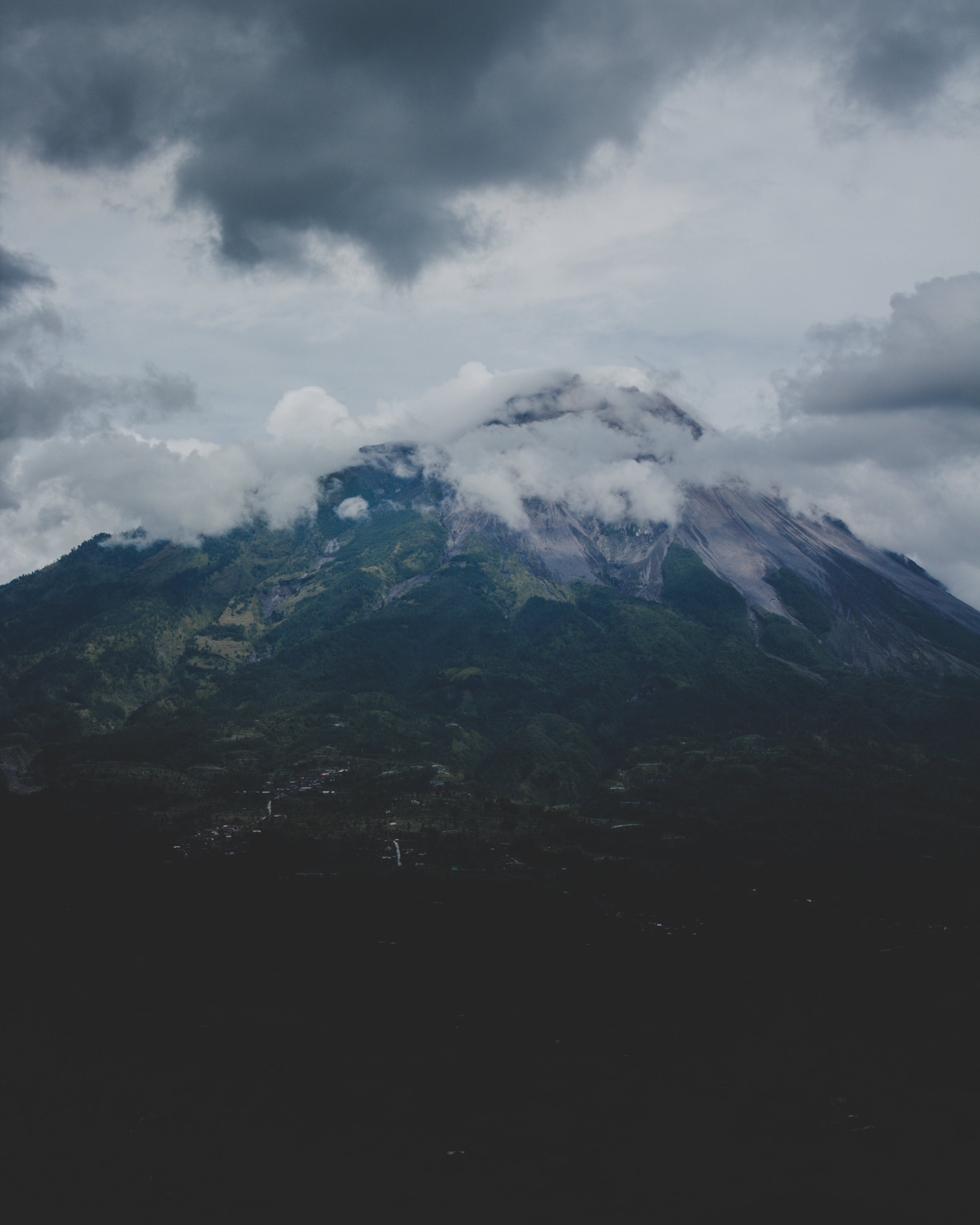 Free stock photo of blue mountains, cloudy, dark, mountain