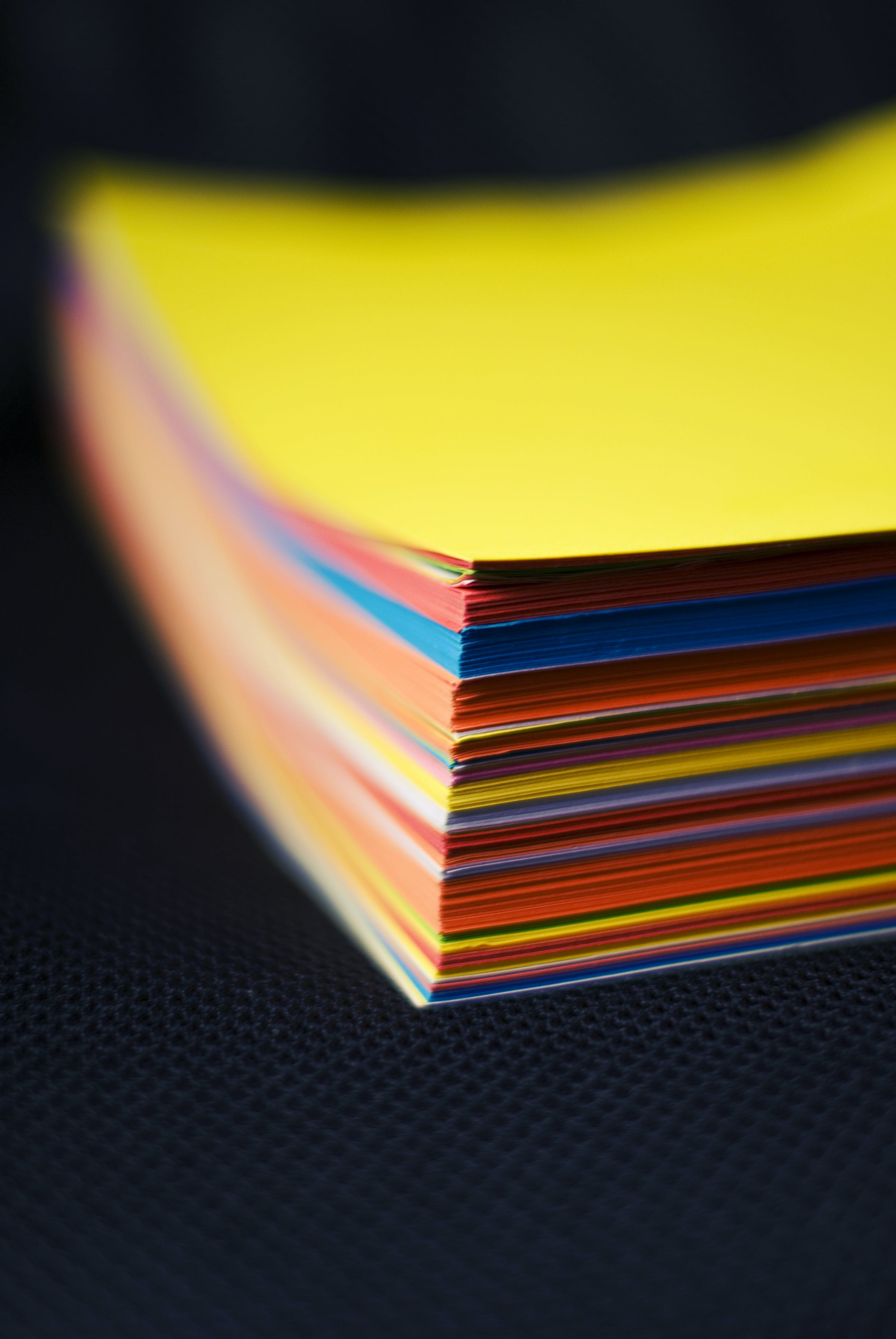 Free stock photo of cards, colorful, paper, ream