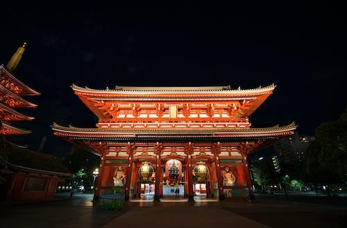 Immagine gratuita di architettura, buddha, buio