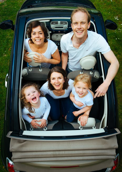 car, children, dad