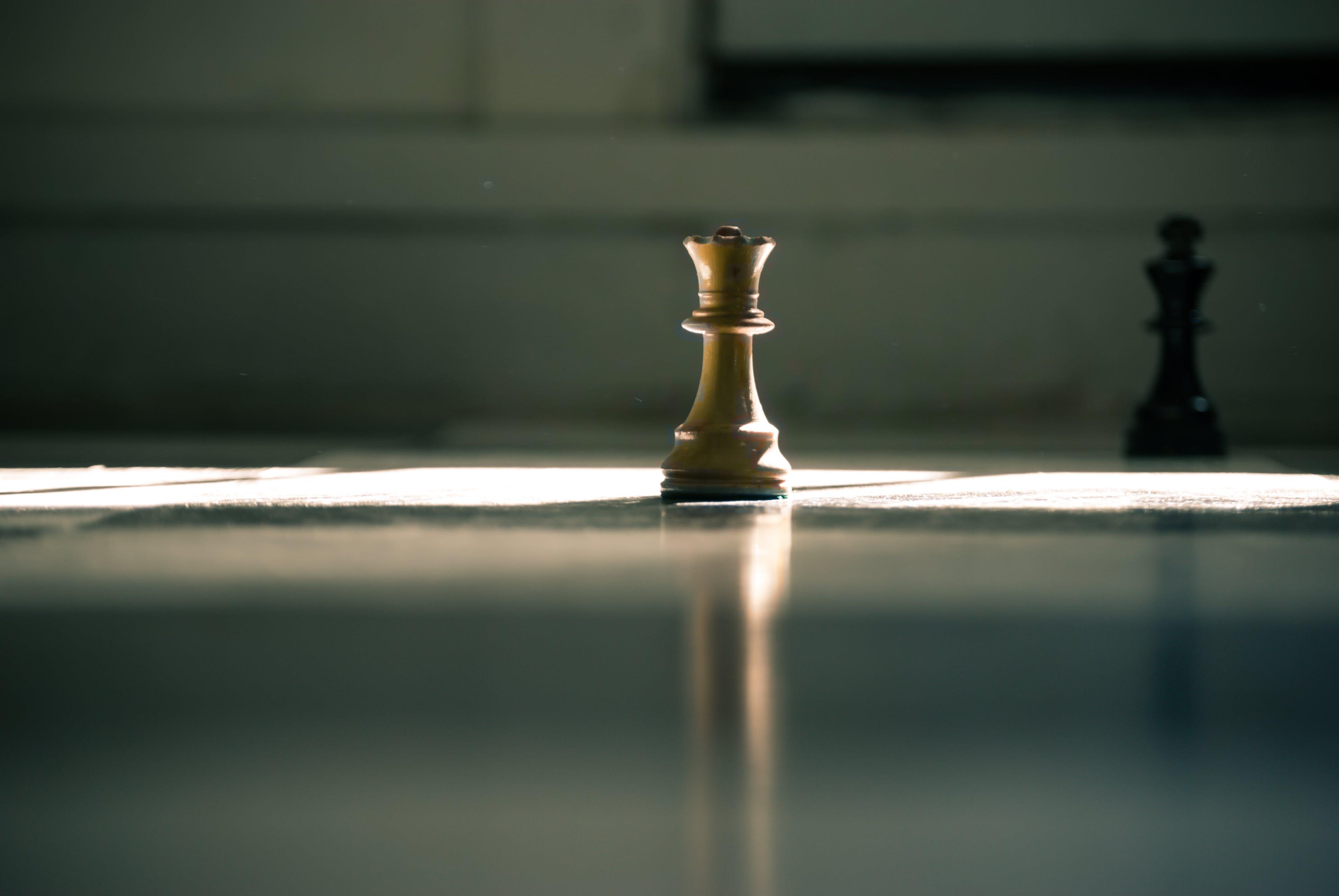 Brown Queen Chess Piece