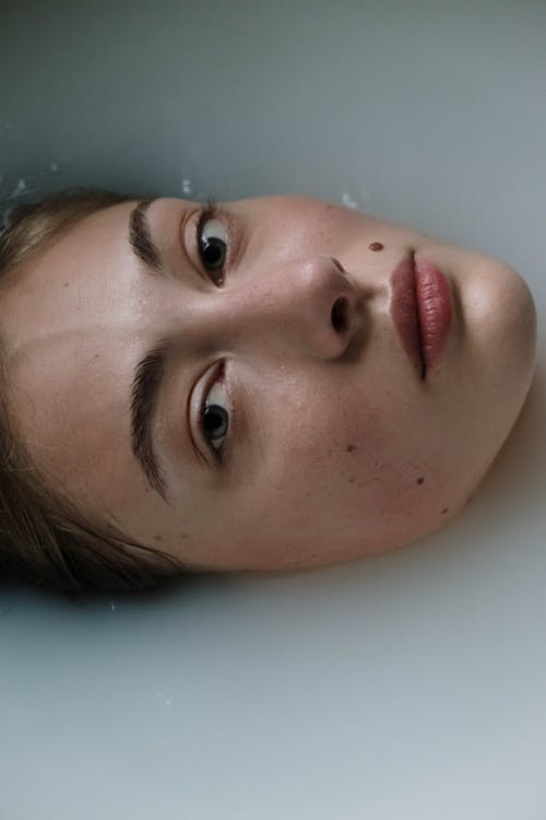 Close-Up Shot of Woman's Face