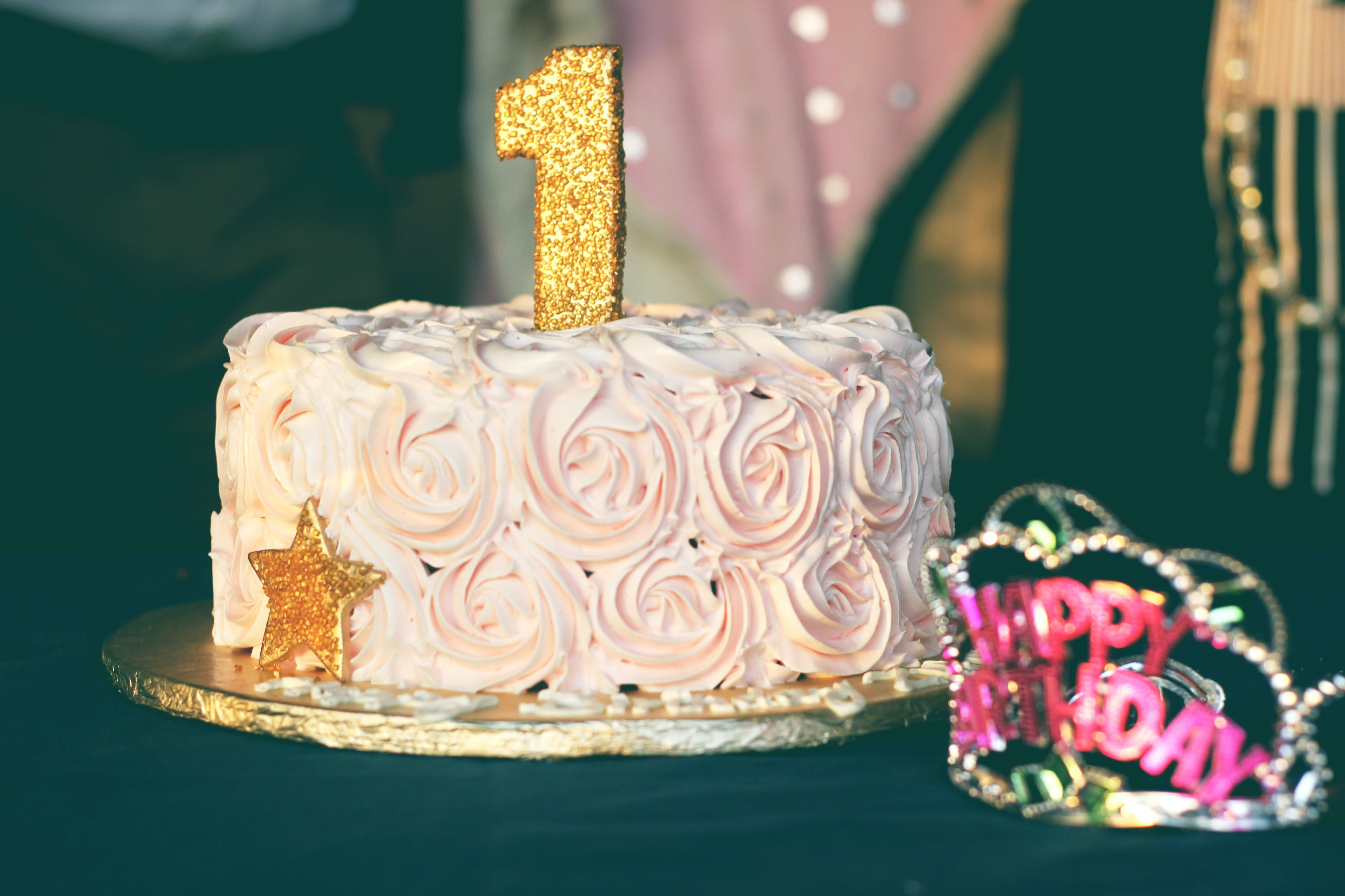 Close-up Photography of Pink Birthday Cake