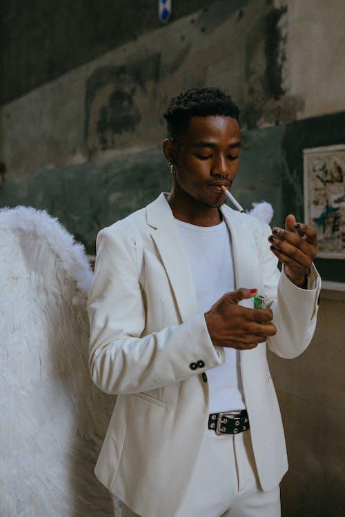 An Angel Smoking a Cigarette