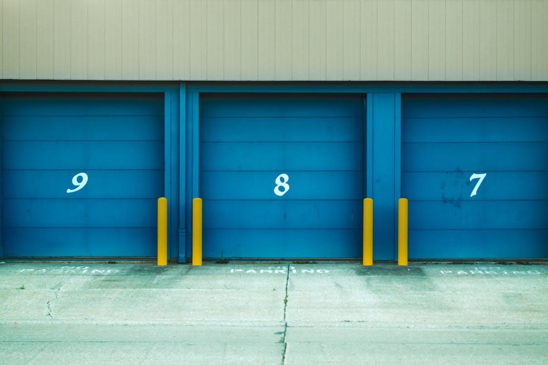 Photo De La Porte D'obturation Bleue