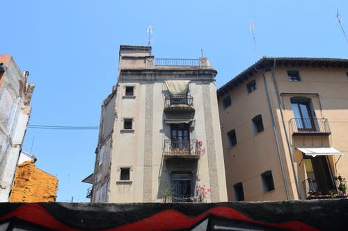 Free stock photo of architecture, balcony, blue