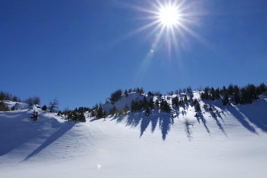 Free stock photo of snow, mountains, sky, blue