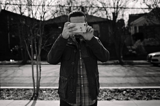 Free stock photo of man, iphone, photographer, happy