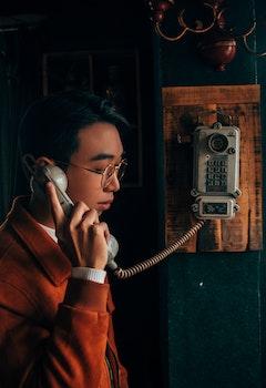 Free stock photo of man, young, sad, phone