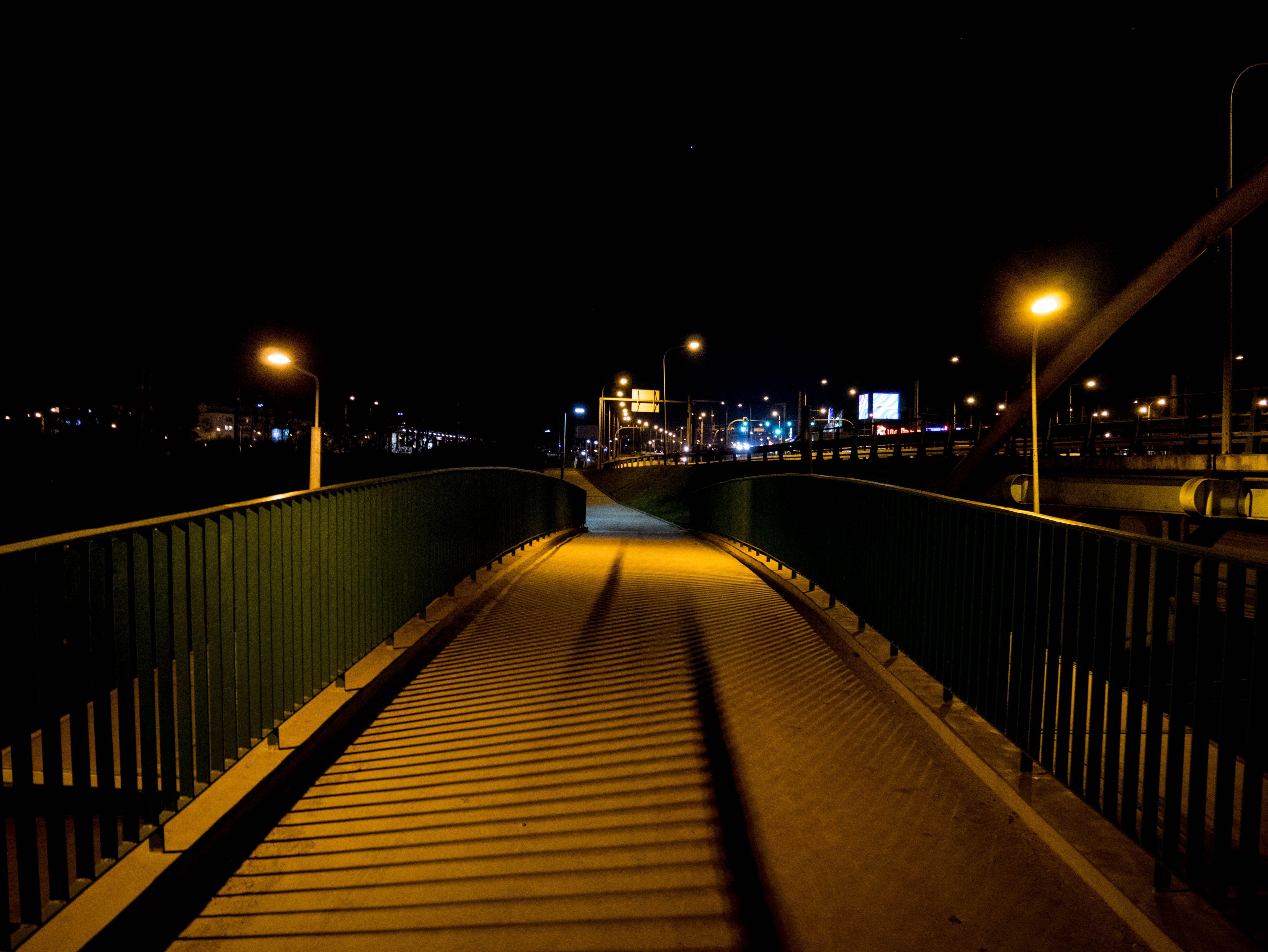 Free stock photo of city, night, bridge