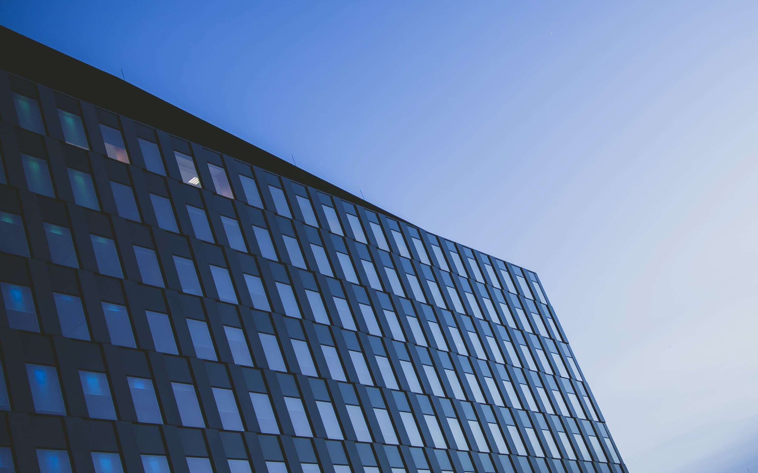 Free stock photo of building, glass, blue-hour